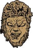 Πρόσωπο Wolfman Στοκ εικόνα με δικαίωμα ελεύθερης χρήσης