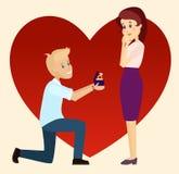 Πρόταση γάμου σχετικά με ένα γόνατο Στοκ Εικόνες