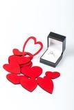 Πρόταση με το δαχτυλίδι διαμαντιών Στοκ Εικόνα