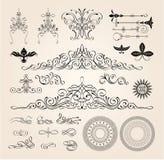 πρότυπα απεικονίσεων στοιχείων σχεδίου διακοσμήσεων απλά Στοκ Εικόνα
