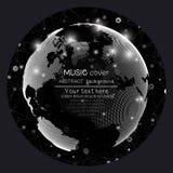 Πρότυπα κάλυψης λευκωμάτων μουσικής Παγκόσμια σφαίρα, σφαιρική ελεύθερη απεικόνιση δικαιώματος