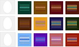 Πρότυπα και σχέδια για τα αυγά Πάσχας Στοκ φωτογραφίες με δικαίωμα ελεύθερης χρήσης