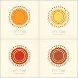 Πρότυπα και σχέδια σχεδίου λογότυπων Διακοσμητικά ανατολικά εμβλήματα Δημιουργικά κυκλικά σύμβολα καθορισμένα Στοκ Φωτογραφία