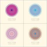 Πρότυπα και σχέδια σχεδίου λογότυπων Διακοσμητικά ανατολικά εμβλήματα Δημιουργικά κυκλικά σύμβολα καθορισμένα Στοκ φωτογραφίες με δικαίωμα ελεύθερης χρήσης