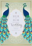 Πρότυπα καρτών γαμήλιας πρόσκλησης Στοκ Φωτογραφίες
