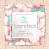 Πρότυπα καρτών γαμήλιας πρόσκλησης, μπαλόνι αγαπημένων Στοκ Εικόνα