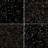 Πρότυπα καρτών διακοπών το αφηρημένο χρυσό αστέρι που διαμορφώνεται με confett Στοκ εικόνες με δικαίωμα ελεύθερης χρήσης