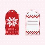 Πρότυπα καρτών Χριστουγέννων με το πλεκτό σχέδιο πουλόβερ Scandinav απεικόνιση αποθεμάτων