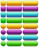 Πρότυπα κουμπιών Ιστού Στοκ Εικόνα