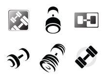 πρότυπα λογότυπων γυμνασ& Στοκ Εικόνα