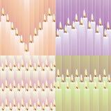 Πρότυπα με τα κεριά Στοκ φωτογραφία με δικαίωμα ελεύθερης χρήσης
