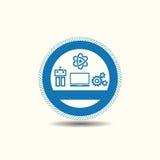 Πρότυπα λογότυπων επιχείρησης εφαρμοσμένης μηχανικής Στοκ φωτογραφίες με δικαίωμα ελεύθερης χρήσης