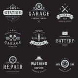 Πρότυπα λογότυπων υπηρεσιών αυτοκινήτων καθορισμένα Στοκ Φωτογραφία