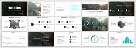 Πρότυπα παρουσίασης Μπλε στοιχεία για το infographics σε ένα άσπρο υπόβαθρο ελεύθερη απεικόνιση δικαιώματος