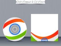 Πρότυπα περίπτωσης κοσμημάτων του CD ή DVD Στοκ Εικόνες