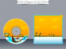 Πρότυπα περίπτωσης κοσμημάτων του CD ή DVD Στοκ Εικόνα