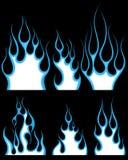 πρότυπα πυρκαγιάς που τίθ&ep διανυσματική απεικόνιση