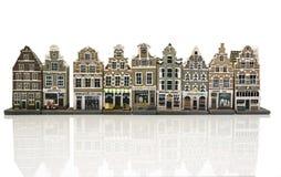 Πρότυπα σπίτια στο παλαιό Άμστερνταμ Ολλανδία στοκ εικόνα με δικαίωμα ελεύθερης χρήσης