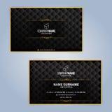 Πρότυπα σχεδίου επαγγελματικών καρτών, σχέδιο πολυτέλειας Στοκ Φωτογραφία