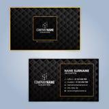 Πρότυπα σχεδίου επαγγελματικών καρτών, σχέδιο πολυτέλειας Στοκ Εικόνα