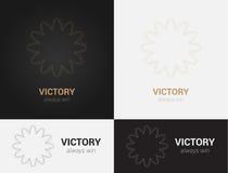 Πρότυπα σχεδίου στα μαύρα, γκρίζα και χρυσά χρώματα Δημιουργικό λογότυπο mandala, εικονίδιο, έμβλημα, σύμβολο Στοκ εικόνες με δικαίωμα ελεύθερης χρήσης
