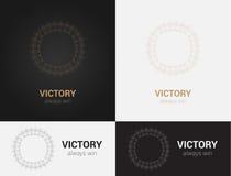 Πρότυπα σχεδίου στα μαύρα, γκρίζα και χρυσά χρώματα Δημιουργικό λογότυπο mandala, εικονίδιο, έμβλημα, σύμβολο Στοκ εικόνα με δικαίωμα ελεύθερης χρήσης