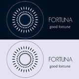 Πρότυπα σχεδίου στα μπλε και γκρίζα χρώματα Δημιουργικό λογότυπο mandala, εικονίδιο, έμβλημα, σύμβολο Στοκ φωτογραφία με δικαίωμα ελεύθερης χρήσης