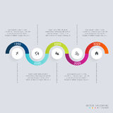 Πρότυπα σχεδίου Infographic υπόδειξης ως προς το χρόνο Διαγράμματα και στατιστικές Στοκ Εικόνες