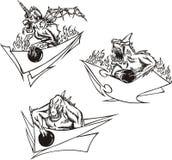 πρότυπα τεράτων μπόουλινγ&kapp ελεύθερη απεικόνιση δικαιώματος