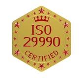 Πρότυπα του ISO 29990 Στοκ Εικόνα