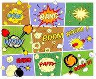 Πρότυπα των λεκτικών φυσαλίδων κόμικς Στοκ Εικόνες