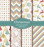 πρότυπα Χριστουγέννων άνε&upsil πολικό καθορισμένο διάνυσμα καρδιών κινούμενων σχεδίων Στοκ Φωτογραφίες