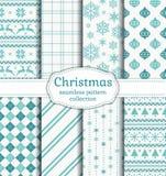 πρότυπα Χριστουγέννων άνε&upsil πολικό καθορισμένο διάνυσμα καρδιών κινούμενων σχεδίων Στοκ Εικόνες