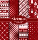 πρότυπα Χριστουγέννων άνε&upsil πολικό καθορισμένο διάνυσμα καρδιών κινούμενων σχεδίων Στοκ φωτογραφία με δικαίωμα ελεύθερης χρήσης
