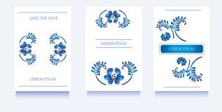Πρότυπα Decoratove για τις προσκλήσεις και ευχετήριες κάρτες στο floral μοναδικό ύφος gzel Στοκ φωτογραφία με δικαίωμα ελεύθερης χρήσης
