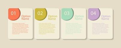 Πρότυπα Infographic για το επιχειρησιακό διάνυσμα Στοκ εικόνα με δικαίωμα ελεύθερης χρήσης