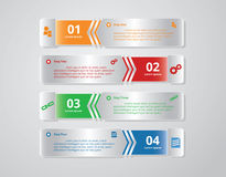 Πρότυπα Infographic για το επιχειρησιακό διάνυσμα Στοκ Εικόνα