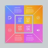 Πρότυπα Infographic στη μορφή του τετραγώνου Στοκ εικόνες με δικαίωμα ελεύθερης χρήσης