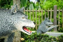 Πρότυπα lego λύκων Στοκ Φωτογραφία