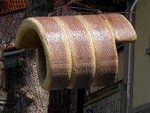 Πρότυπη ένωση επιδορπίων Trdelnik από ένα αρτοποιείο στοκ εικόνα