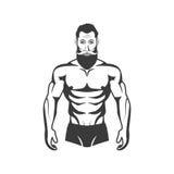 Πρότυπη απεικόνιση ικανότητας Bodybuilder Αισθητικό σώμα Στοκ Φωτογραφίες