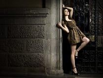 πρότυπη γυναίκα μόδας Στοκ Φωτογραφία