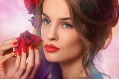 πρότυπη γυναίκα ομορφιάς Στοκ Εικόνες