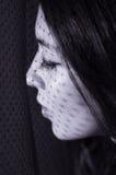Πρότυπος πειραματισμός brunette Headshot με τις σκιές Στοκ Εικόνες