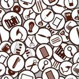 πρότυπο άνευ ραφής Εργαλεία εκπαίδευσης/επιχειρήσεων/εργασίας/τεχνολογία Απεικόνιση αποθεμάτων