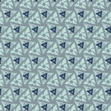 πρότυπο άνευ ραφής Μορφές τριγώνων με το grunge Στοκ Εικόνα