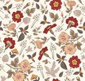 πρότυπο άνευ ραφής Ρεαλιστικά απομονωμένα λουλούδια Εκλεκτής ποιότητας διάνυσμα χάραξης σχεδίων primavera πετουνιών υποβάθρου hib Στοκ εικόνες με δικαίωμα ελεύθερης χρήσης