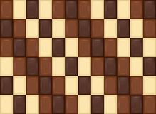 πρότυπο άνευ ραφής Ρεαλιστικά κομμάτια φραγμών σοκολάτας Γάλα, σκοτάδι, Wh Στοκ φωτογραφίες με δικαίωμα ελεύθερης χρήσης