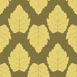 πρότυπο άνευ ραφής Συμμετρικά φύλλα Στοκ Φωτογραφίες