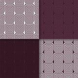 πρότυπο άνευ ραφής Το σύνολο χρωμάτισε το γεωμετρικό υπόβαθρο Στοκ Εικόνες